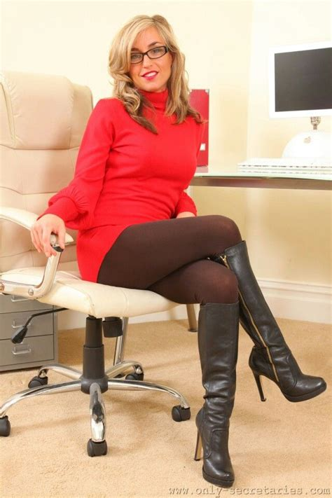 Sexy Secretary In Tights And Boots Office Secretary