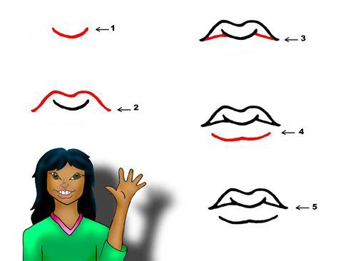 draw lips clipart