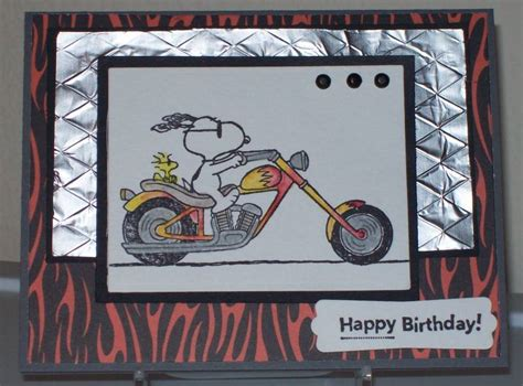Snoopy Rides A Harley By Rbright