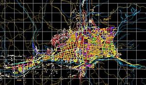 Planos de Plano de la localidad de huaraz ancash, en Perú Diseño urbano en PlanosPara