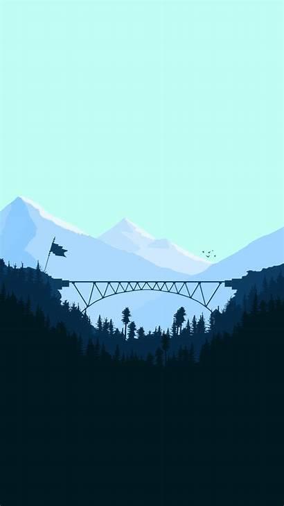 Iphone Minimal Digital Bridge Wallpapers Iphoneswallpapers