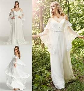 sexy boho beach chiffon lace wedding dresses plus size With bohemian wedding dress cheap