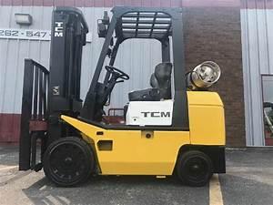 Tcm Fcg25t7t 5000lbs Lpg Forklift W   Side Shift Cushion