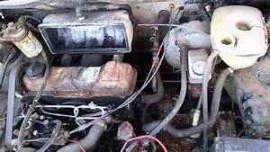 Black 1981 Diesel Vw Rabbit Engine Test