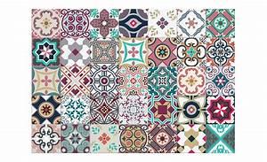 Tapis Carreaux De Ciment Saint Maclou : tapis vinyle allegra motif carreaux de ciment ~ Nature-et-papiers.com Idées de Décoration