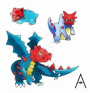 Druddigon's Pre-Evolutions by AndyrooAlert on DeviantArt