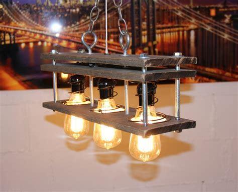 Pallet Wood 3 Bulb Rustic Vintage Lamp ? iD Lights