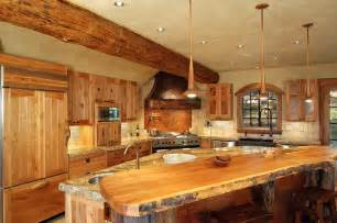 Log Cabin Kitchen Island Ideas by Counter Top For Log Cabin Kitchen Best Home Decoration