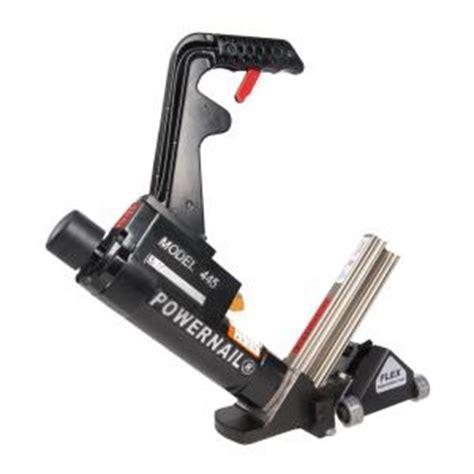home depot flooring roller rental powernail 16 gauge flex power roller pneumatic hardwood flooring cleat nailer 445flexprw the
