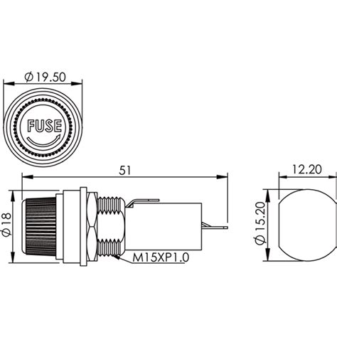 trailer panel mount led light template dxf bf101 agc fuse holder high quality bf101 agc fuse holder