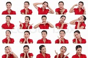 Multiple images of same woman | Stock image | Colourbox