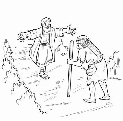 Prodigal Son Coloring Pages Lost Bible Luke