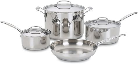 cookware cuisinart stainless classic piece chef silver sets brands