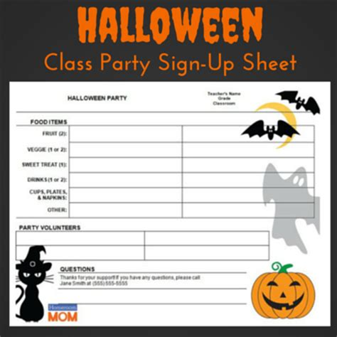 sign up sheets for preschool festival 740 | Halloween Sign Up Sheet Preschool Party (15)