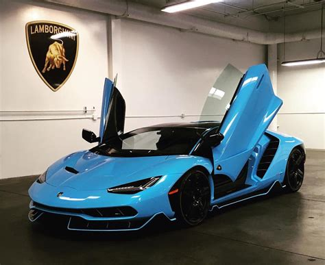 Light Blue Sports Cars by The Fourth Lamborghini Centenario Has Landed In The Us And