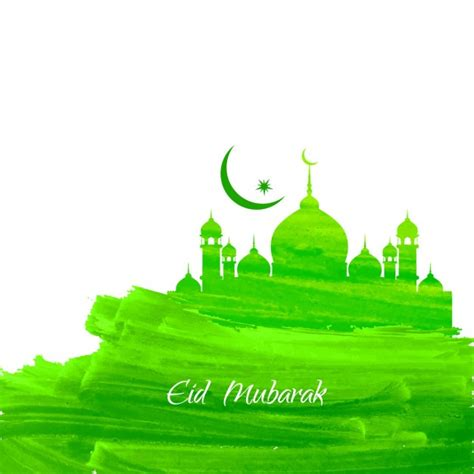 islam colors green color islamic background with mosque vector free