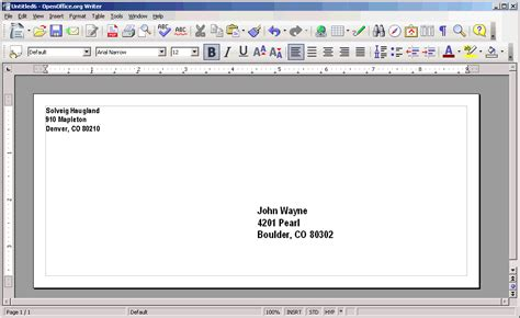 Openoffice Envelope Template by Openoffice Tip Everything About Envelopes