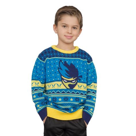 youth ninja logo ugly christmas sweater shurikens pattern