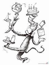 Seuss Coloring Dr Hat Pages Cat Printable Characters Ham Eggs Suess Pdf Sheets Birthday Sheet Getcolorings Getdrawings Drawing Preschool Coloringfolder sketch template