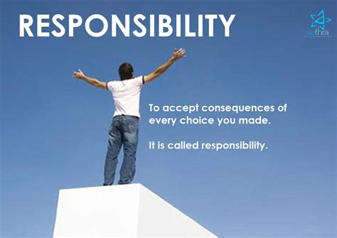learning  responsibility quotes quotesgram