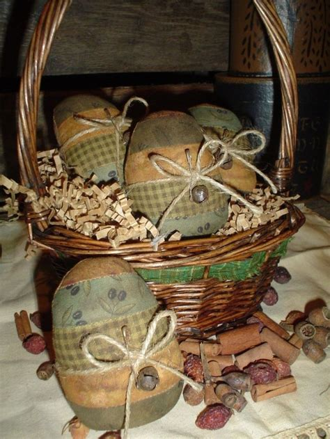 Primitive Easter Decorations To Make by Pattern Primitive Easter Eggs Bowl Fillers Ornie
