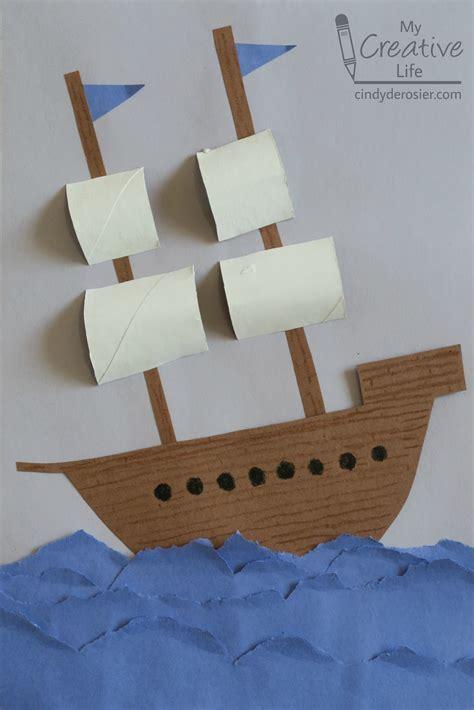 construction paper explorer ship fun family crafts