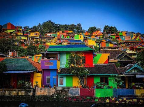 kampung pelangi rainbow village  indonesia covered