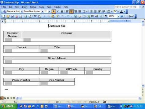 create word template with fillable fields how do i fill word form fields with access data techrepublic