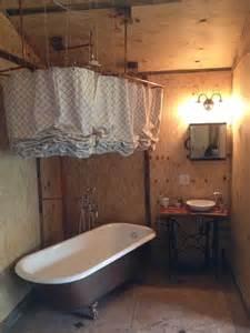 clawfoot tub bathroom ideas sewing machine sink clawfoot tub shower curtain bathroom repurposed