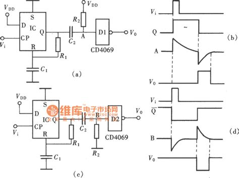 Positive Negative Pulse Delay Circuit Compoed