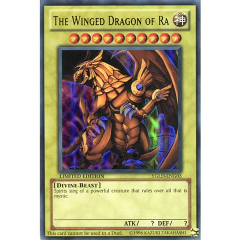 Winged Of Ra Deck List by The Winged Of Ra Ygld Eng03 1st Edition Yu Gi Oh Card