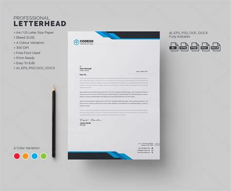 Samurai Professional Corporate Letterhead Template 000906