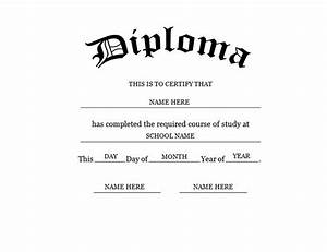 blank high school diploma template free printables With free ged diploma template