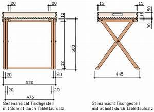 Tischgestell Holz Selber Bauen : bauanleitung f r ein tablett mit gestell ~ Watch28wear.com Haus und Dekorationen