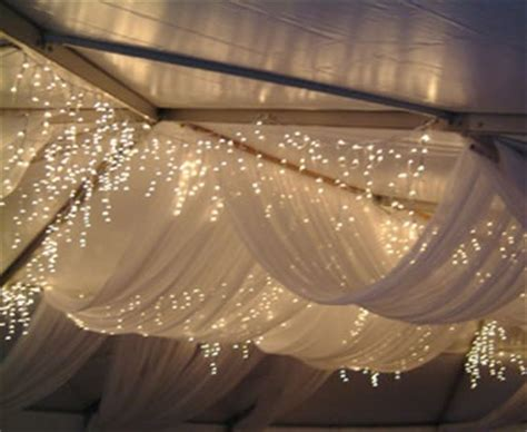 twinkle lights bedroom ceiling decoration draped sheets