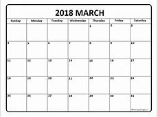 March 2018 Printable Calendar – printable weekly calendar