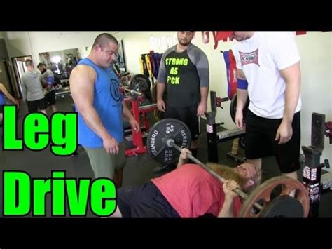 Bench Press Leg Drive by How To Use Leg Drive Bench Press Tips W Bell Part 1