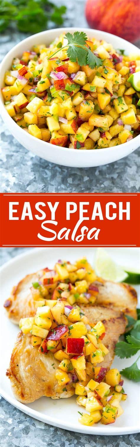 peach salsa dinner   zoo