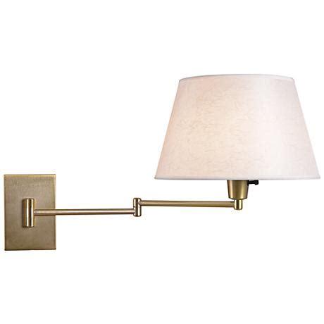 kenroy element vintage brass swing arm plug in wall light r8703 lsplus com