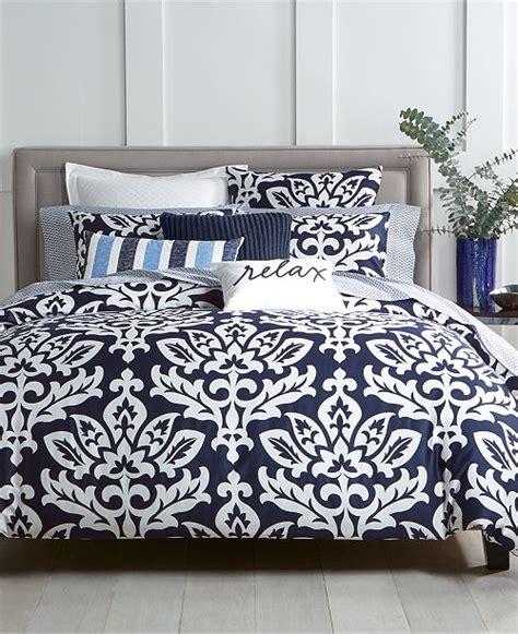 charter club navy  pc fullqueen comforter set created