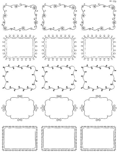 printable doodle borders labels  inktreepress