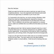 Thank You Letter After Job Interview 15 Download Free Documents In Sample Thank You Note After Phone Interview 6 Free Documents In PDF 10 Thank You Letter After Job Interview Sample Templates To Write A Formal Business Thank You Letter Cover Letter Templates