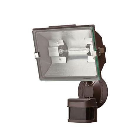 defiant 270 degree outdoor bronze motion security light df
