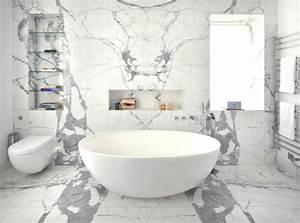 salle de bain marbre 50 exemples d39amenagement With meuble de salle de bain avec dessus en marbre