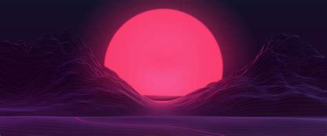 Background Neon Wallpaper 4k by Big Sun Neon Mountains 4k Hd Artist 4k Wallpapers
