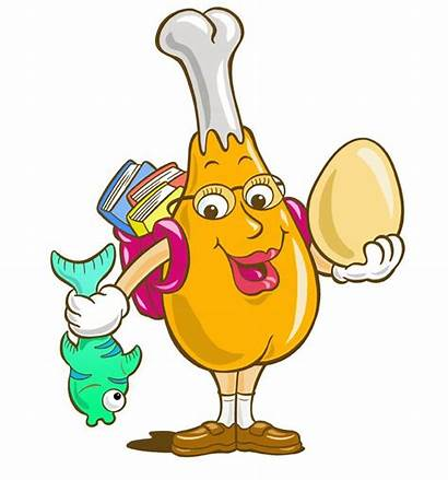 Protein Cartoon Clipart Chicken Cliparts Proteins Foods