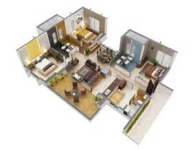 Beautiful Apartment Floor Plans by 3 Bedroom Apartment House Plans