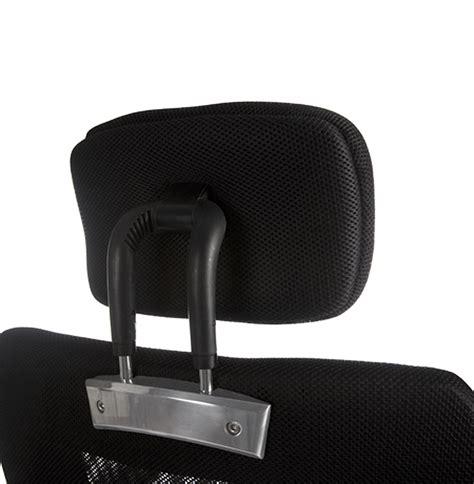 chaise tete de mort fauteuil de bureau noir avec accoudoirs et appui tête