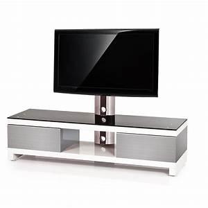 Meuble Tv Design 140 Cm Blanc RM 140H SWI Exclusive