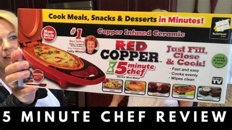 red copper  minute chef review  cook meals eat chef